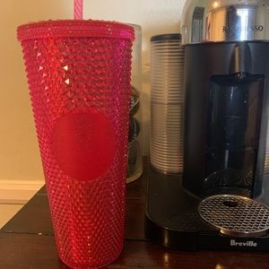 Starbucks Holiday 2019 Hot Pink Studded Cup